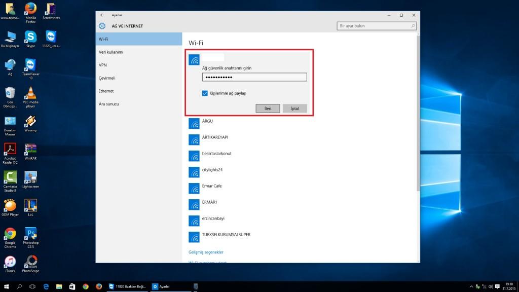 windows 10 şifre ekranı